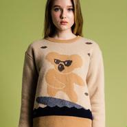 サーフィンコアラのセーター(camel)