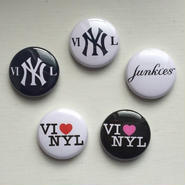 """A.W. Harvest – """" NY series """" Button Badges 5set"""
