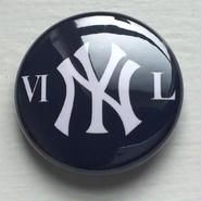 "A.W. Harvest – "" VI NY L "" Button Badges"
