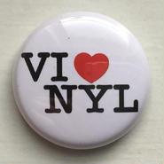 """A.W. Harvest – """" VINYL LOVE """" Button Badges"""
