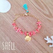 再再販♡coral bracelet♡shell