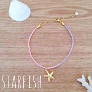 rainbow anklet♡starfish