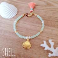 再再販♡charm bracelet♡shell