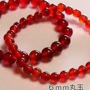 子宝の守護石 赤メノウ (セミオーダー品)6mm丸玉一連女性S~Ⅿサイズ