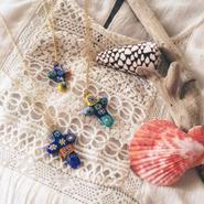 millefiori long necklace