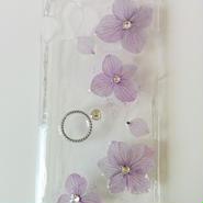 紫陽花と指輪のiphoneカバー ※送料無料