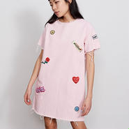 LAZY OAF/DENIM PATCH TUNIC DRESS