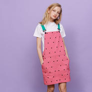 LAZY OAF/WATERMELON DUNGAREE DRESS