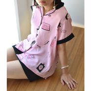 LAZY OAF/BAD GIRL SATIN SHIRT