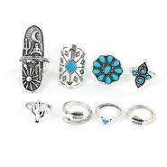turquoise&silver ring 〜9点SET〜