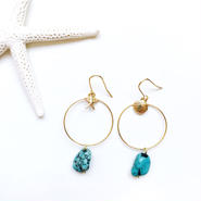 shell starfish turquoise pierce