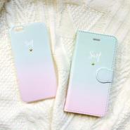 《受注販売:2週間〜3週間待ち》Leinani オリジナル   マーメイド 手帳型 〜iPhone6Plus、iiPhone7Plus〜