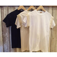 【burself】SHOULDER FRINGES  TEE