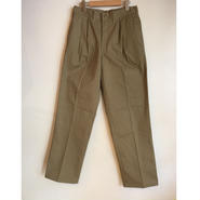 DEADSTOCK 【KHAKI JUNGLE】BOUBLE PLEATED PANT