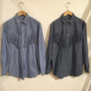 【NOMA t.d.】fringe denim shirt