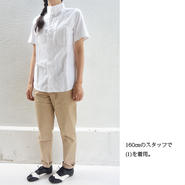 nisica ニシカ 半袖ボタンダウンシャツ ホワイト レディース サイズ1