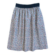 COUPOLE(クーポール)LIBERTYプリント「keiko柄ピンク系 フレアースカート」