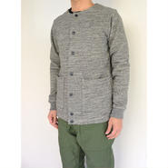 Jackman ジャックマン JM7705 GG Sweat Collarless Jacket #29Charcoal