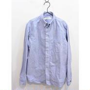 nisicaニシカ ボタンダウンシャツ ブルー