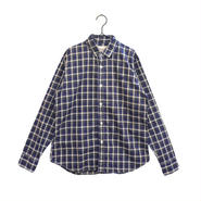weac.(ウィーク)PUGCHAN SHIRTS パグちゃんシャツ レディース 青チェック