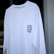 """WEB"" (Chinese ver. )  Long Sleeve Pocket Tee |WHITE"