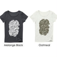 Official T-shirts (Ladies/Melange Black・Oatmeal)