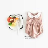 衿付きロンパース くすみピンク
