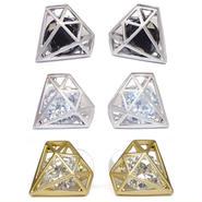 ダイヤモンドモチーフビジューピアス