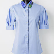 半袖シャツ(緑/水色)