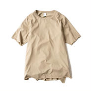 CUT OFF FINE TEE(BEIGE)
