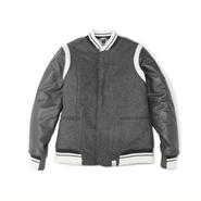TAILORED VARSITY JACKET with EMB