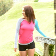 Rash Guard with Hot Pants  【21W06/51S】          UVカットUPF50+    吸水速乾