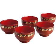 【Aizu coating】   Shunkei TakaraHisashi cherry soup bowl (5 guests)