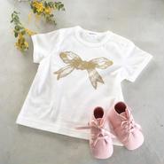 Baby リボンTシャツ(ホワイト)