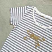 リボン ボーダーTシャツ