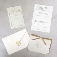 サンプル:結婚式 招待状 プルミエシリーズ(グリーン)