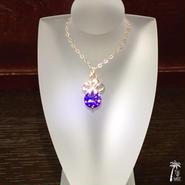 <Rose14kgf> 8mmジルコニアのネックレス -ユリの紋章 violet-