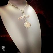 エンジェルRoseクォーツのネックレス - silver -
