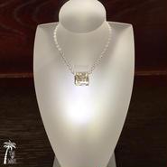 Hawaiian Jewelry プルメリアSILVERバレルのネックレス