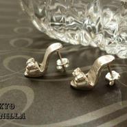 シンデレラの靴 - silverピアス2点set(両耳用) - D