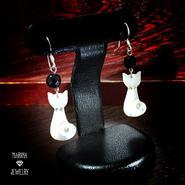 白猫のピアス - silver -