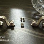 【2回にわけて贈るプレゼント】 - シンデレラの靴 - silverピアス×トパーズ3点set - C