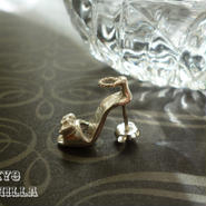 シンデレラの靴 - ストラップつきsilverピアス(片耳用) - F
