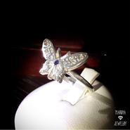 アメジストのButterflyリング -silver-
