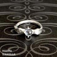 Angel アクアマリンのリング - silver -