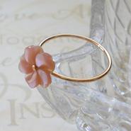 プルメリアのリング - Pink gold