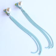 △ chain mint ピアス