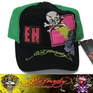 Ed Hardy エドハーディー EWS CAP キャップ SMALL SKULL 黒×GR (32)