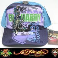 Ed Hardy エドハーディー キャップ CAP パープル/ブルー (5)