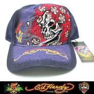 Ed Hardy エドハーディー CAP BEAUTIFUL GHOST パープル (26)